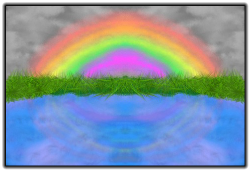 Scribblify  Artwork of Rainbow over Water