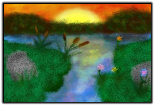 Scribblify  Artwork of Sunset