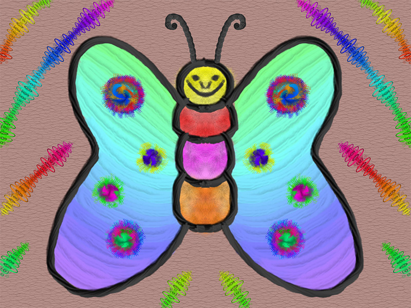 Scribblify App Artwork - Rainbow Butterfly